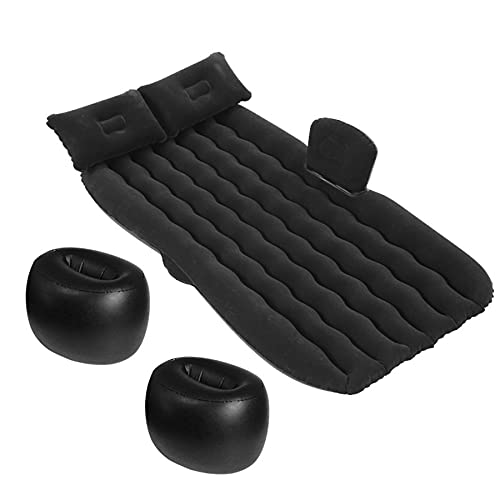 KiAKUO - Materasso gonfiabile per auto, con cuscino, pompa ad aria elettronica pieghevole e...
