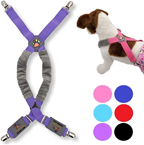FunnyDogClothes Dog Suspenders for Pet Clothes Apparel Diapers Pants Skirt Belly Bands Small product image