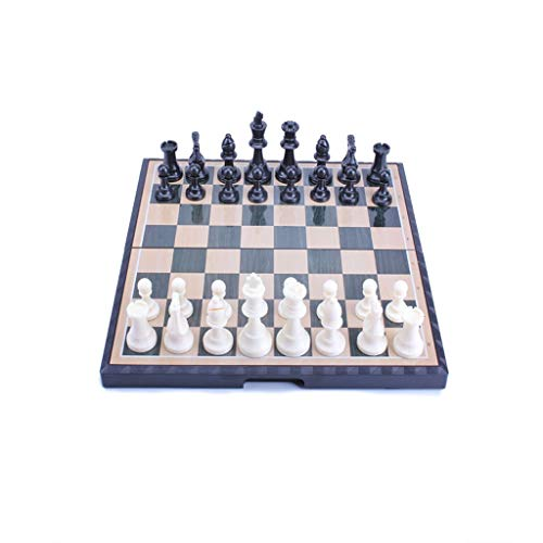 HJHJ Chess Game Chess Set Magnetic Travel Folding Board Portable Educational Toys Gifts for Kids and Teens Suitable Chess Gifts (Color : Large+Book)
