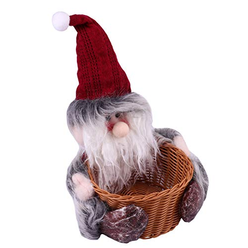 Cabilock Santa Candy Basket Christmas Candy Box Decoration Candy Jar Sugar Container Candy Storage Bottle Santa Claus Desktop Ornaments Holiday Party Home Decor