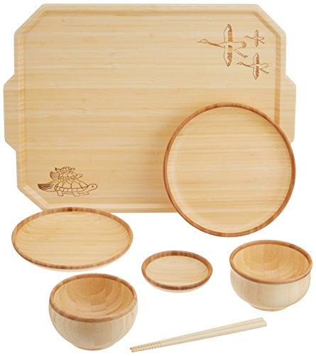 agney* お食い初め トレーセット 国産 天然竹製 食洗機対応 モダンタイプ