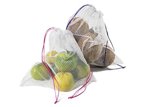 Kit 12 Saquinhos Ecobag Sustentável Reutilizável Fruta Legume Verdura Feira Mercado