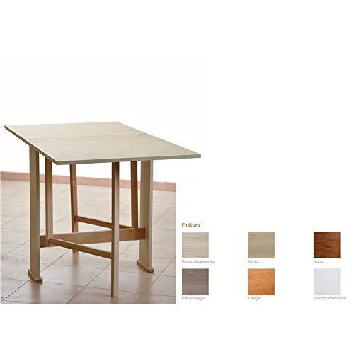 Tavolo in Legno Richiudibile Pieghevole Bianco mod. Susanna 140x75x78 cm