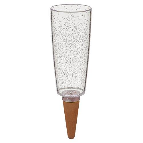 Scheurich Copa XXL, Wasserspender aus Kunststoff und Tonkegel, TRANSPARENT CLEAR, 32 cm hoch, 1,0 Vol.