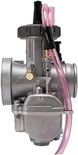 WPLHH Keihin / 28 mm, 30 mm, 32 mm, 34 mm, carburador de motocicleta para 125-250 cc, 2T 4T Moto ATV UTV Pit Bike Dirt Bike, equipo de carburador (color: KEIHI 34 mm)
