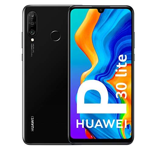 "Huawei P30 Lite - Smartphone de 6.15"" (WiFi, Kirin 710, RAM de 4 GB, memoria de 128 GB, cámara de 48+2+8 MP, Android 9) Negro"