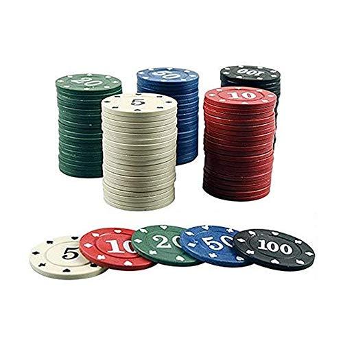 LGFB Blackjack-Sets 100 Poker Chips Kartenspiel für Familie Freunde Sponsored Casino Entertainment Um Geld Spielen