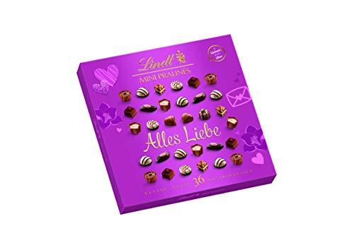 Lindt Mini Pralinés, Rosa, Emotional Edition mit persönlicher Botschaft, Ideal als Pralinen-Geschenk zum Muttertag, 1er Pack (1 x 180 g)