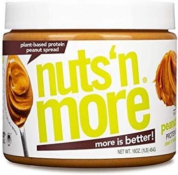 Nuts N More Plant Based Peanut Butter Spread All Natural High Protein Nut Butter Healthy Snack product image
