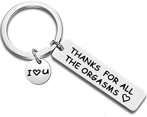 Stainless Steel Inpirational Mantra Lovers Couple Husband Wife Birthday Keychain Pendant Gift product image