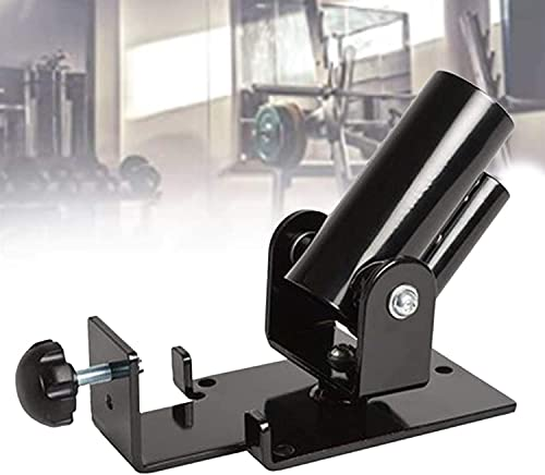 YYBBJH T-Bar Row Langhand Trainer, T Bar Rowing platform in black, swivel sleeve, heavy steel structure for 5.2 and 3.4 cm dumbbell bars (T-bar rowing/T-bar Row)