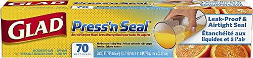 GLAD Press'n Seal Freezer Wrap 21,6m x 30cm - Frischhaltefolie - Klarsichtfolie zum Einfrieren