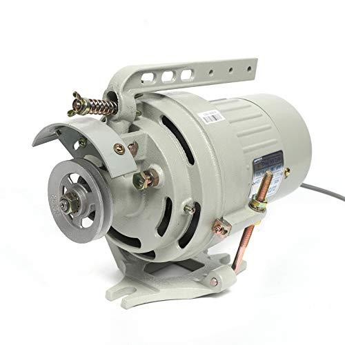 DIFU Motor de embrague monofásico para máquinas de coser industriales, 0,03 CBM, motor de embrague de repuesto, hierro fundido, velocidad de rotación 2850 rpm para máquina de coser Consew 1/2 CV