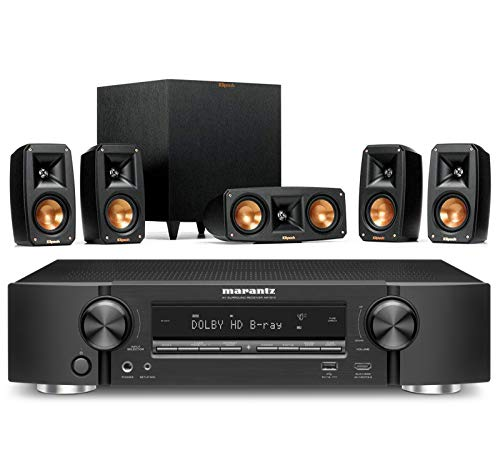 Review Of Klipsch Reference Theater Pack 5.1 Surround Sound System Bundle with Marantz NR1510 5.2 Ch...
