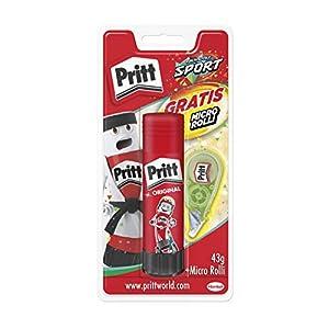 Pritt Barra Adhesiva + Corrector Micro Roller, pegamento infantil y corrector blanco, accesorios para estuche escolar y…