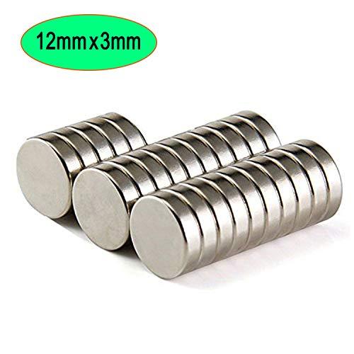 Neodym Magnete Super Starke Seltenerd-Magnete Runder Magnet Kleiner multifunktionaler Kühlschrankmagnet 25 Stück N52 Magnet für Kühlschrank, Wissenschaft, Handwerk, DIY, Hobby, Küche, Büro, 12mm x 3mm