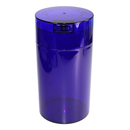 Tightpac America, Inc. Tightvac - 3 to 12 Oz Vacuum Sealed Storage Container, 1.3-Liter/1.1-Quart, Blue Tint