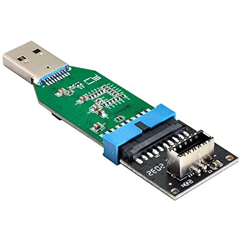 NFHK USB 3.1 Panel frontal Socket Key-A Tipo-E a USB 3.0 20Pin Header a Tipo-A Adaptador de Extensión Macho