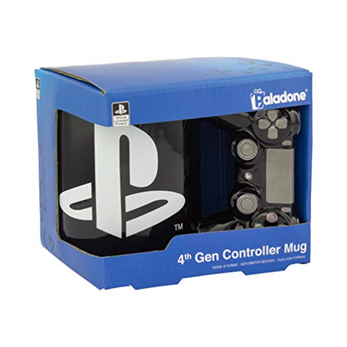 Paladone PP5853PS Playstation 4. Generation Controller Offiziell lizenziert, perfekte Tee- oder Kaffeetasse für Fans, Familie, Geburtstag oder Weihnachten, Keramik