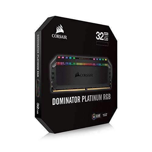 Corsair Dominator Platinum RGB 32GB (2x16GB) DDR4 3600 (PC4-28800) C18 1.35V - Black Nevada