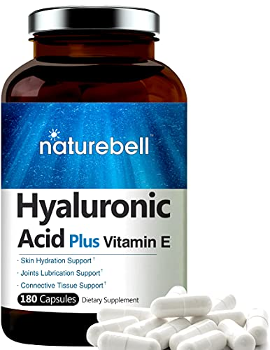 NatureBell Hyaluronic Acid with Vitamin E, 125mg,180 Capsules,...