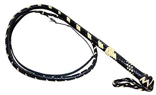 Premium Peitsche Bullenpeitsche Bullwhip Rindleder Lederpeitsche geflochten MULTICOLOR inkl. Holster/Länge: 250 cm/BDSM Spanking Schlagwerkzeug