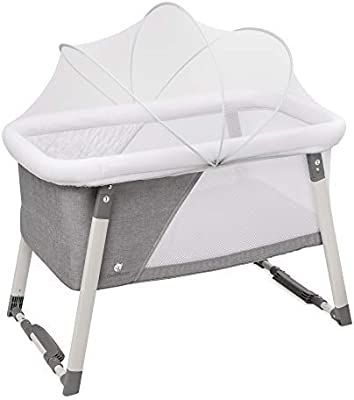 63d344d1f Travel Bassinet for Baby - Rocking & Sturdy Cradle - Includes Carry Case,  Mosquito Net