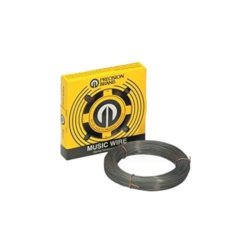 Precision Brand 039-21220 0.020″ Diameter Music Wire, 1/4 lb. Coil, High Carbon, Spring Tempered, C1085 Steel, 350 KSI Min Tensile Strength, 387 KSI Max Tensile Strength