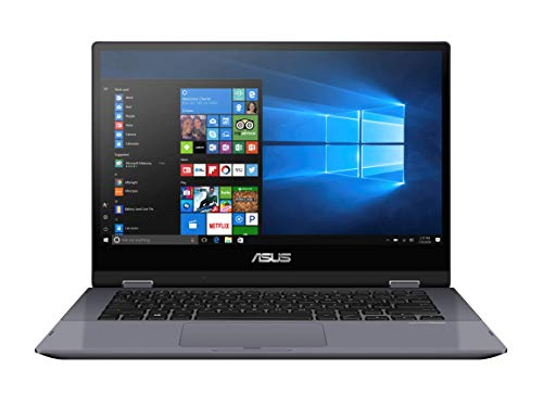 "ASUS VivoBook Flip 14 TP412FA#B08CKQJMPT, Monitor 14"" Touchscreen FHD Glossy, Intel Core i3-10110U, RAM 8GB, 256GB SSD PCIE, Windows 10 Home S, Grigio scuro"