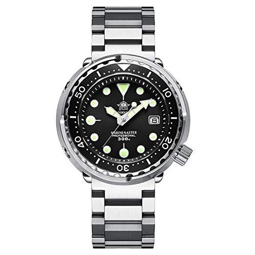 xiaoxioaguo Buceo 300m reloj de buceo automático de acero inoxidable bisel de cerámica reloj de los hombres reloj mecánico