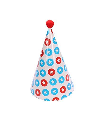 Blancho Fournitures 5Pcs d'anniversaire d'enfants Hat Party Party Hat
