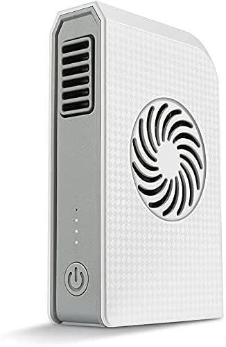 HMHMVM Pequeño ventilador personal con batería externa de 6000 mAh, mini ventilador de mesa USB y cargador portátil, ideal para viajes, escuela, oficina, cocina, deportes al aire libre, camping.