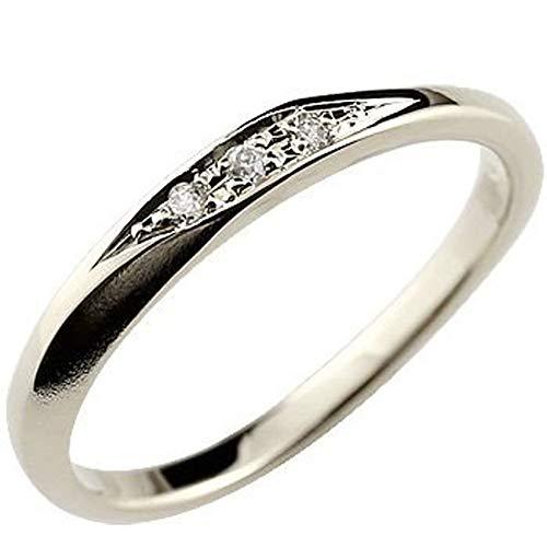 [アトラス]Atrus リング レディース sv925 スターリングシルバー ダイヤモンド 指輪 つや消し 8号