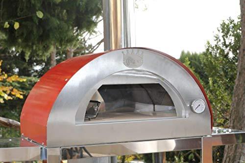 CLEMENTI - Forno per pizza in legno Clementino, colore: Rosso