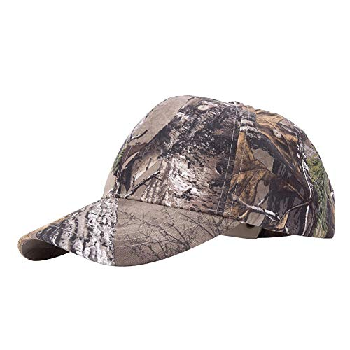 Vbest life Casquette de Camouflage en Plein air Unisex Peaked Cap Sunhat Baseball Hat for Outdoor Archery Fishing Ball Games Sports(Camouflage)
