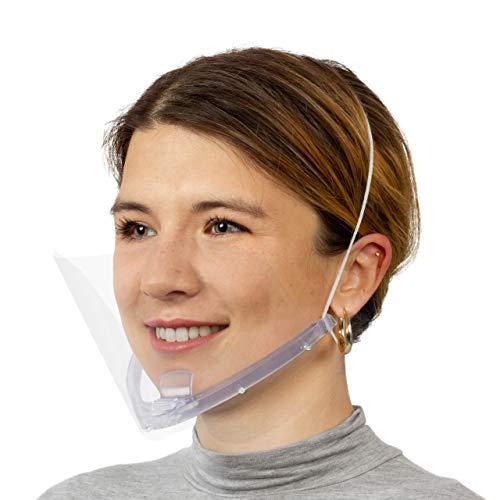 Smile Shield Mascherina Visiera Trasparente Riutilizzabile (Trasparente)