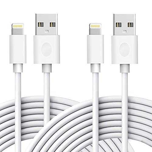 iPhone Charger, AEAOA Lightning Cable 2Pack 6ft Fast Charging High Speed Data Sync Transfer Lightning to USB A Charger Compatible with iPhone 11Pro Max/11Pro/11/XS/Max/XR/X/8/8P/7 and More - White