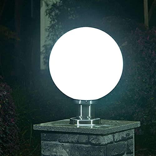 Lámpara Solar Esférica para Exteriores, IP64 Lámpara De Pie Impermeable Luces Flotantes para Piscina Jardín Césped Luces Decorativas Panel Solar Integrado con Gradiente De 7 Colores 20CM