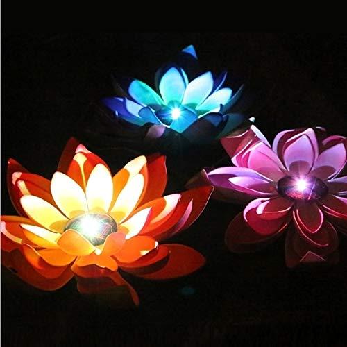Warm Home Decoratieve solarverlichting, drijvend, LED, waterdicht, met zonnepaneel, 1 tot 3, EVA, geschenken