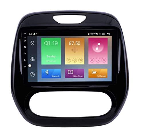 JIDI Navigazione GPS Autoradio per Renault Captur Clio 2011-2016, Android 10.0 Autoradio Stereo Supporta GPS/Radio/Bluetooth/Navigazione/Controllo del Volante/RDS/DSP/FM