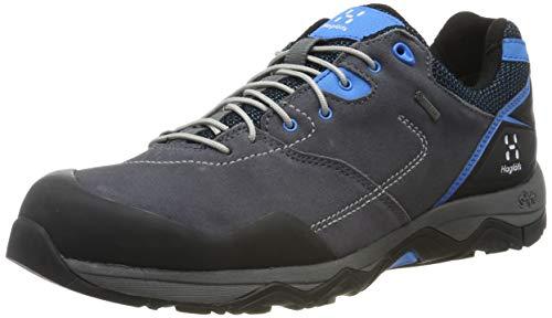 Haglöfs Roc Claw GT, Chaussures de Randonnée Basses Femme, Gris (Rock/Blue Agate 3wr), 38 EU