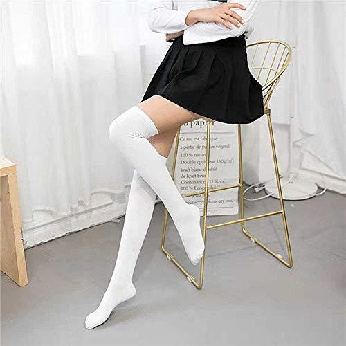 ZHANGNUO Calcetines Sexys Calcetines Largos a Rayas Calcetines Largos para Mujer Calcetines Altos hasta El Muslo para Damas Niñas Calcetines a La Rodilla a Rayas Mujeres Rosa