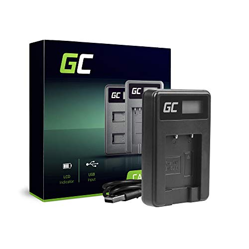 Green Cell® MH-66 Cargador para Nikon EN-EL19 Batería y Coolpix W100, A100, A300, S32, S33, S100, S2750, S3300, S5200, S6400, S7000 Cámaras (2.5W 4.2V 0.6A Negro)