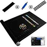 Cavestoff Professional Jigsaw Puzzle Roll Mat Puzzle Storage Saver Black Felt Mat Blanket with Travel Storage bag r Up to 1500 Pieces