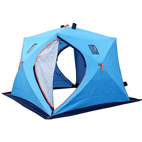 MENGQIN 5 6 Personen IJsvissen Tent En Drie Lagen Van Warm Oxford Winter Katoenen Tent Automatische Snelheid