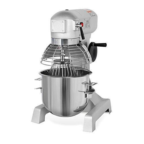 vertes 20 Liter Profi Teigknetmaschine mit Planetenrührwerk (20 Liter Rührschüssel, 1100 Watt Elektromotor, umfangreiches Zubehör)