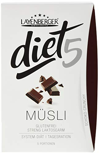 Layenberger diet5 Müsli Schoko-Crunchy, 5 Stück