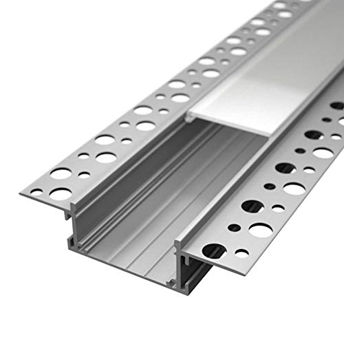 Alupona Perfil de aluminio LED, Blanco, L: 2m – B: 4,1cm – H: 1,85cm (KIZAR75)