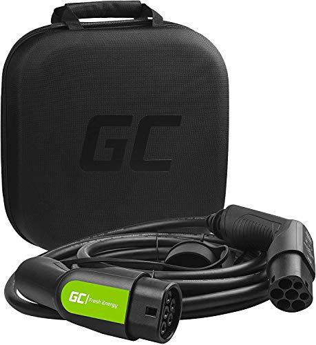 Green Cell® GC Type 2 Cable de Carga EV Vehículo Eléctrico PHEV | 7,2kW | 32A | Tipo 2 a Tipo 2 | 5 Metros | Monofásico | Compatible con EQC, i3, Leaf, A250e, CITIGOe IV, Kuga PHEV, e-Golf, Fortwo
