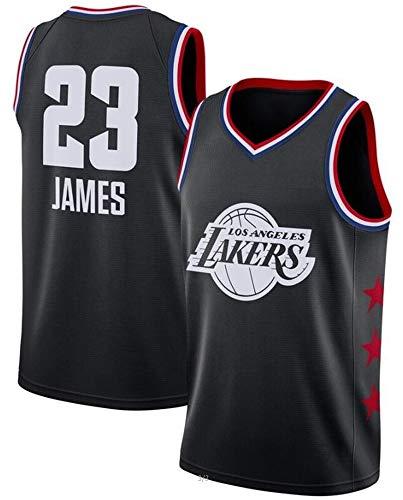 WSWZ Camiseta De La NBA para Hombre, Los Angeles Lakers 23# Lebron James Jersey Camiseta Deportiva De La NBA Cómoda Camiseta De Baloncesto Swingman,C,M(170~175CM/65~75KG)